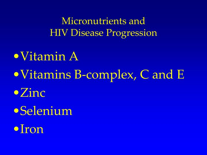 Micronutrients and