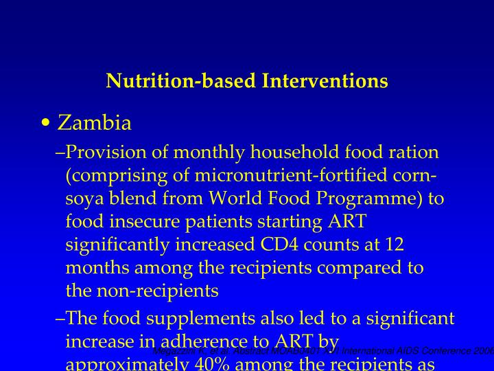 Nutrition-based Interventions