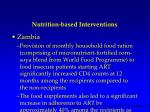 nutrition based interventions