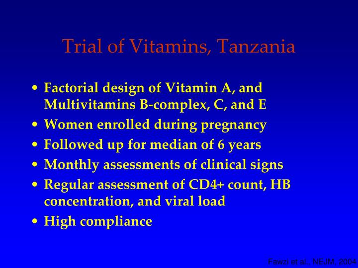 Trial of Vitamins, Tanzania