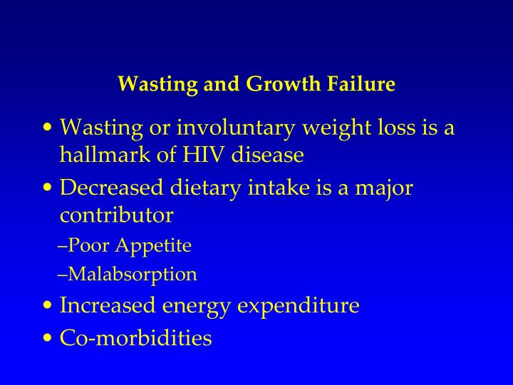 Wasting and Growth Failure