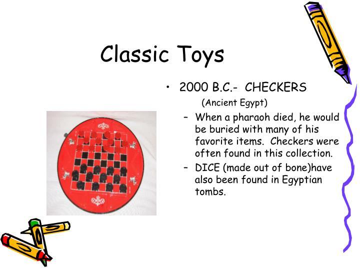 2000 B.C.-  CHECKERS