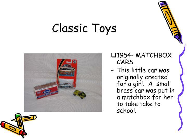 1954- MATCHBOX CARS