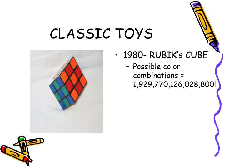 1980- RUBIK's CUBE