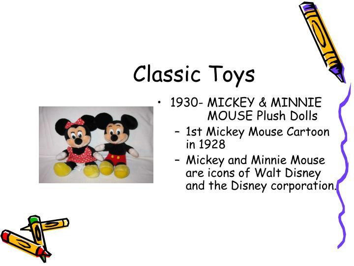 1930- MICKEY & MINNIE     MOUSE Plush Dolls