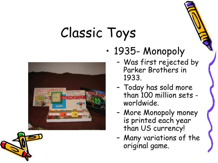 1935- Monopoly