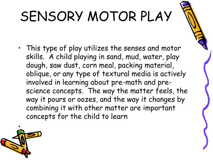 SENSORY MOTOR PLAY