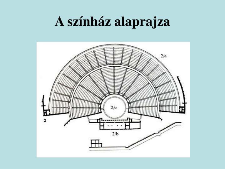 A színház alaprajza