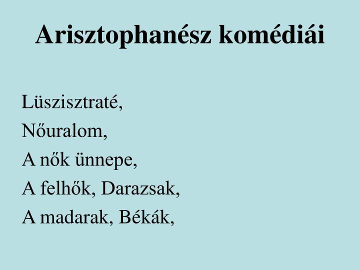 Arisztophanész komédiái