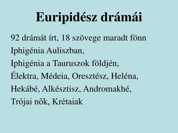 Euripidész drámái