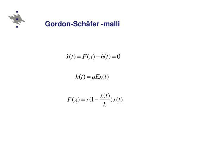 Gordon-Schäfer -malli