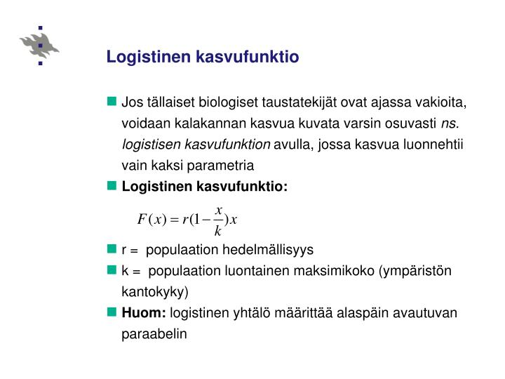 Logistinen kasvufunktio