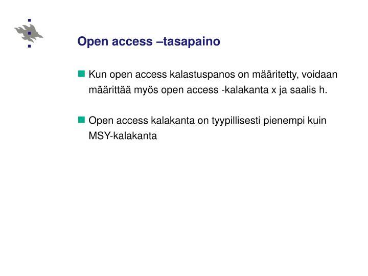 Open access –tasapaino