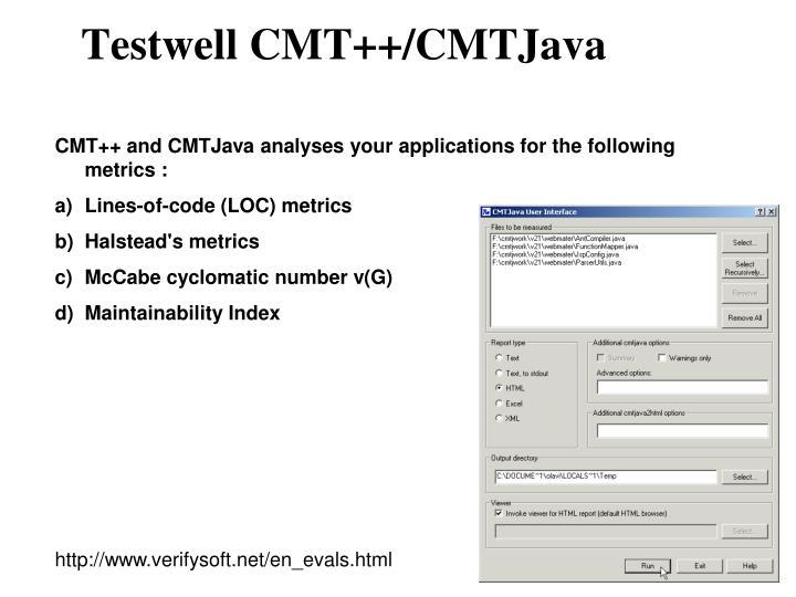 Testwell CMT++/CMTJava