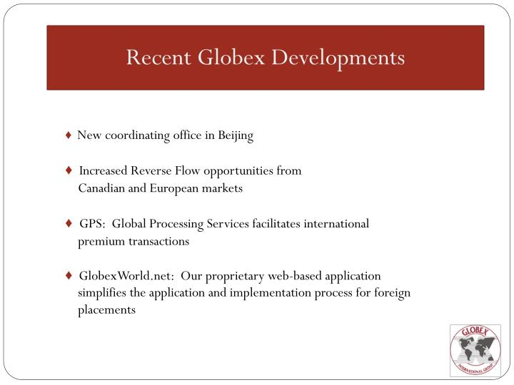 Recent Globex Developments