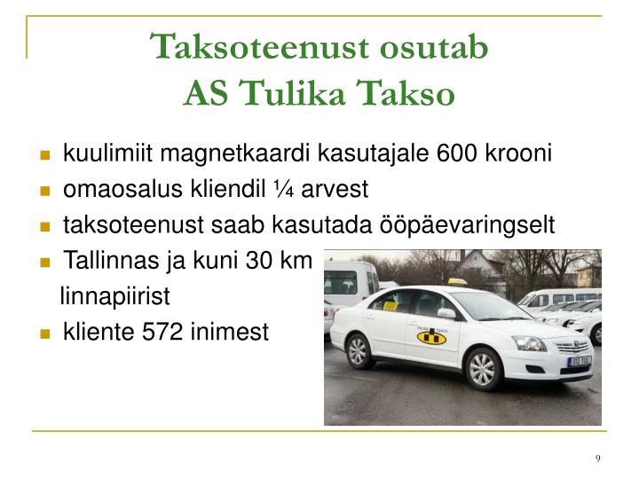Taksoteenust osutab