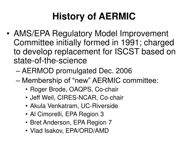 History of AERMIC