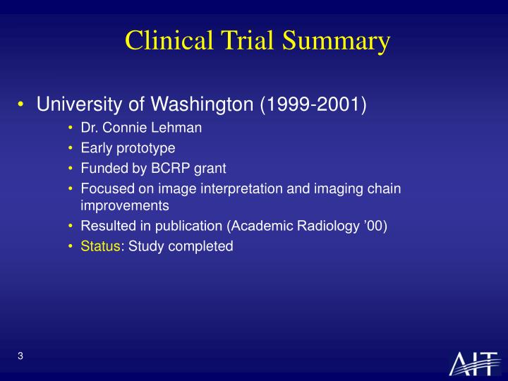 Clinical Trial Summary