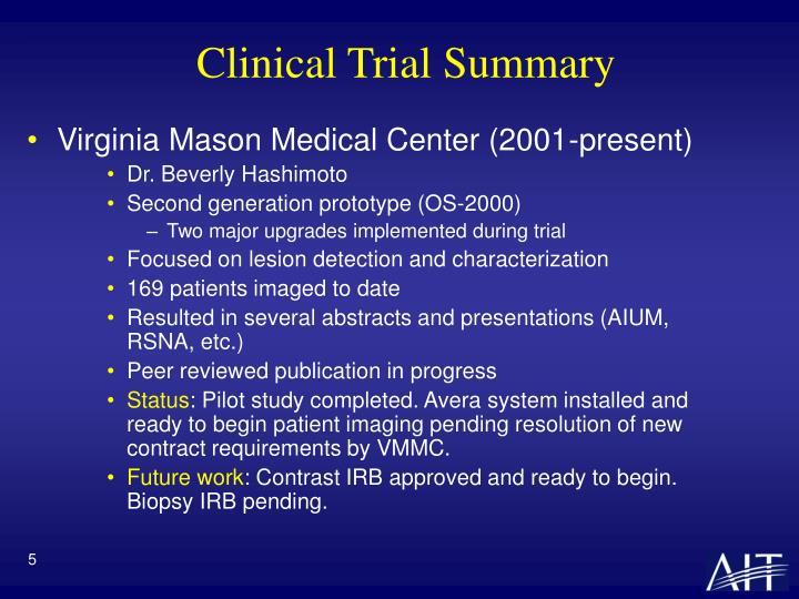 Clinical Trial Summary