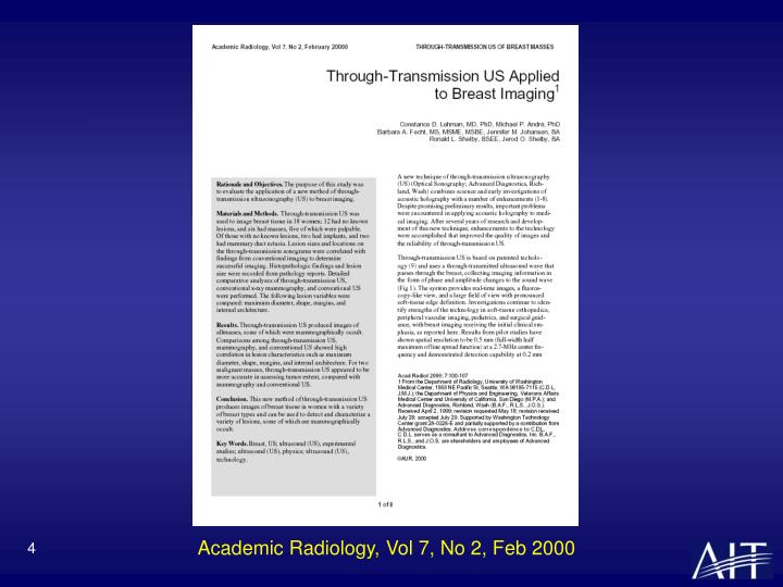 Academic Radiology, Vol 7, No 2, Feb 2000