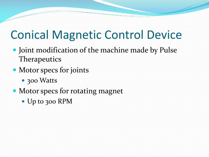Conical Magnetic Control Device