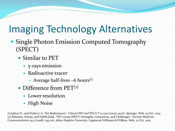 Imaging Technology Alternatives