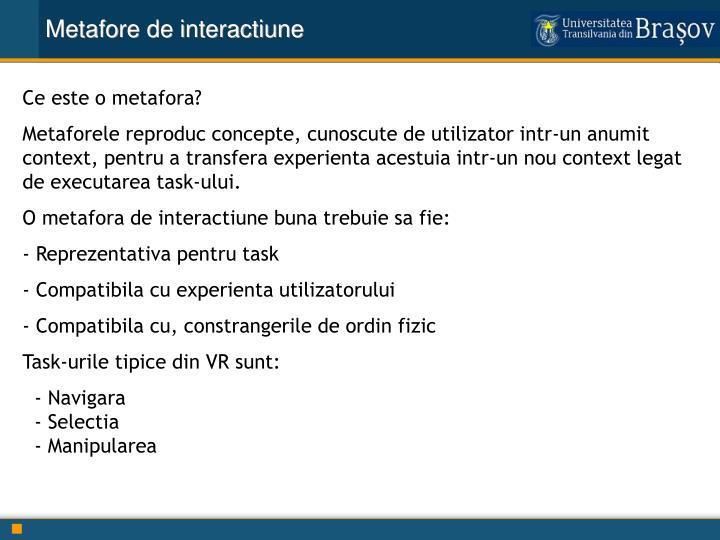 Metafore de interactiune