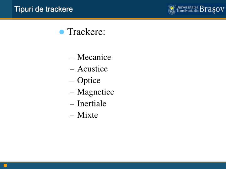 Tipuri de tracker