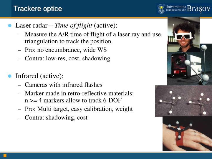 Trackere optice