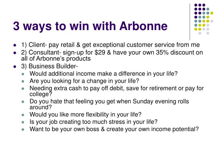 3 ways to win with Arbonne
