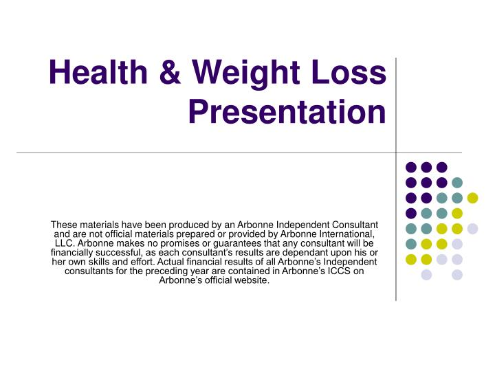 Health weight loss presentation