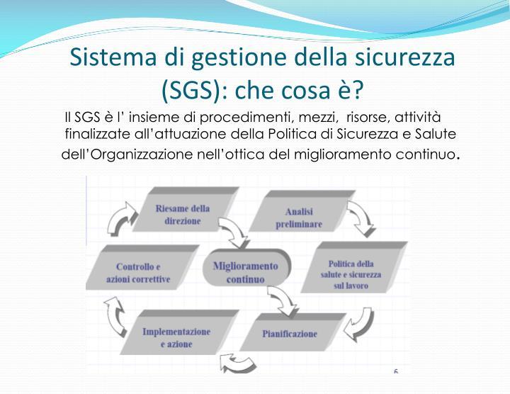 Sistema di gestione della sicurezza (SGS): che cosa è?