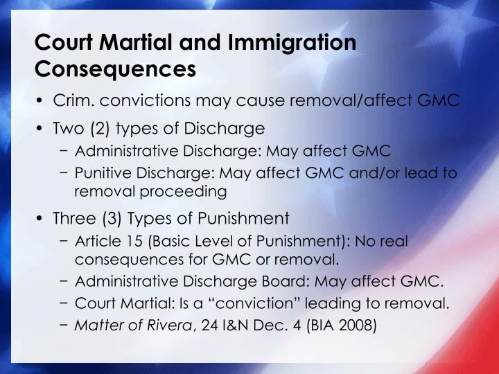 Court Martial and Immigration Consequences