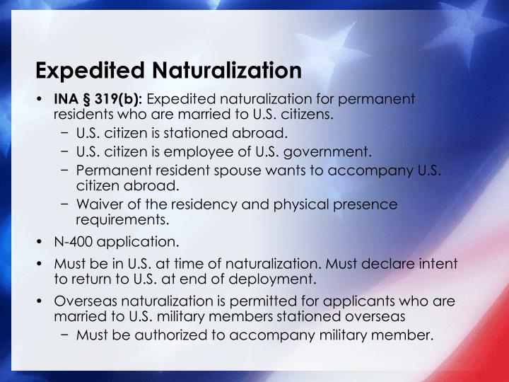 Expedited Naturalization