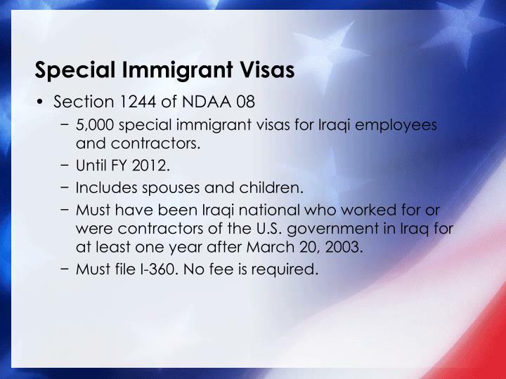 Special Immigrant Visas