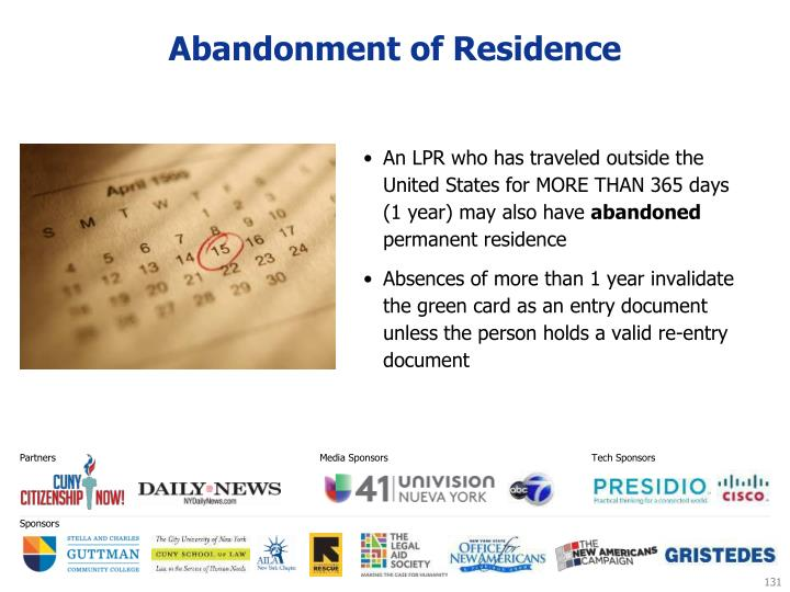 Abandonment of Residence