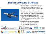 break of continuous residence