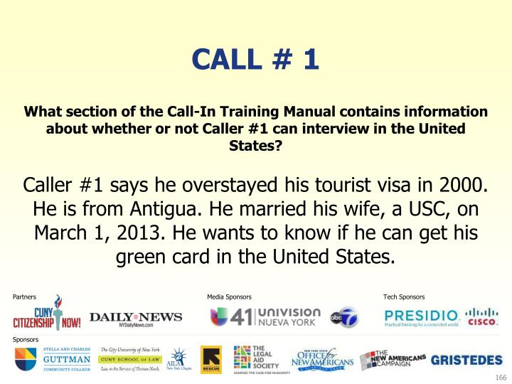 Call # 1
