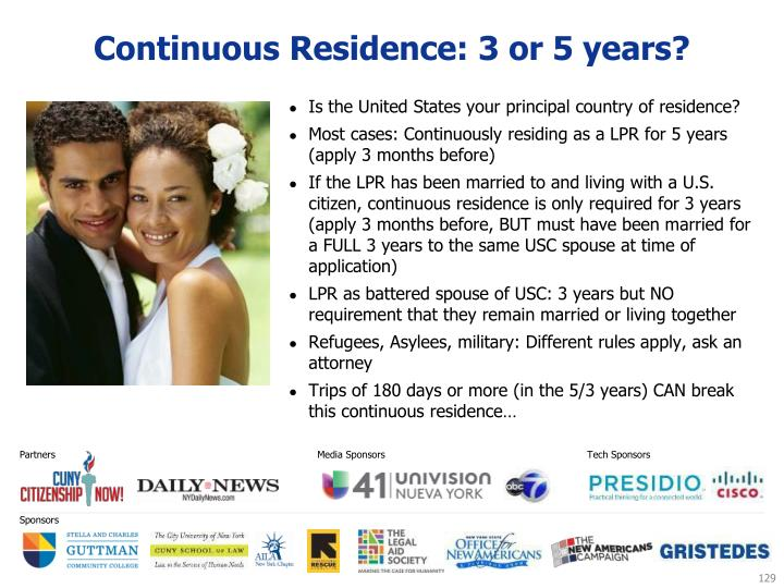 Continuous Residence: 3 or 5 years?