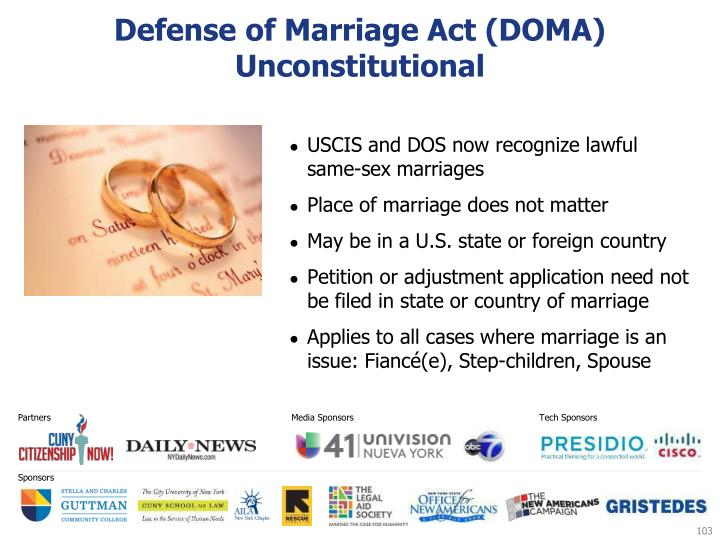 Defense of Marriage Act (DOMA) Unconstitutional