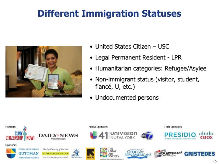 Different Immigration Statuses