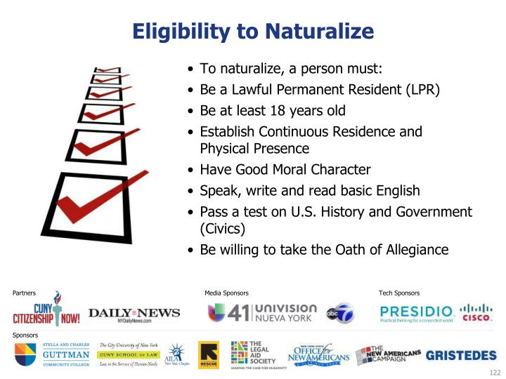 Eligibility to Naturalize