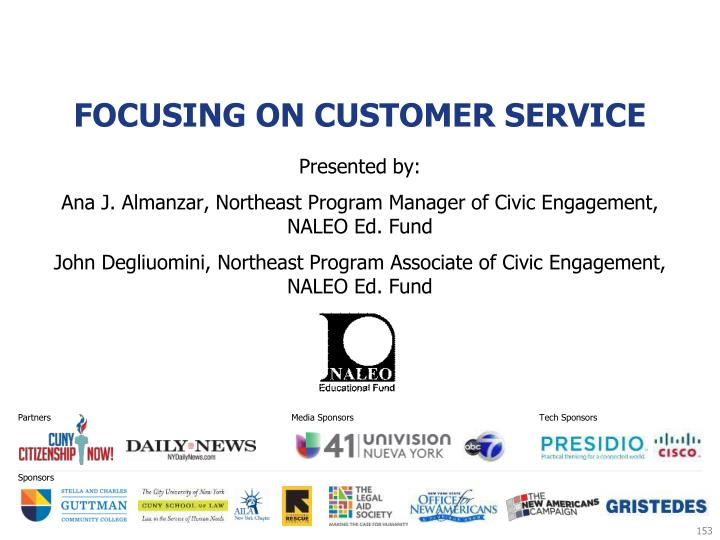 Focusing on Customer Service