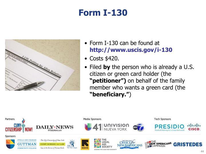 Form I-130