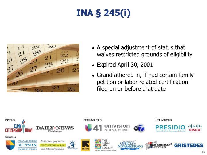 INA § 245(i)