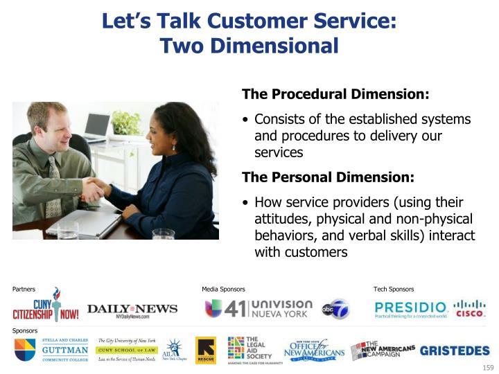 Let's Talk Customer Service:
