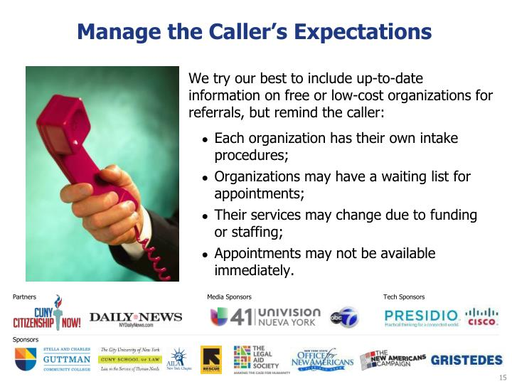 Manage the Caller's Expectations