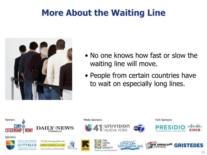 More About the Waiting Line