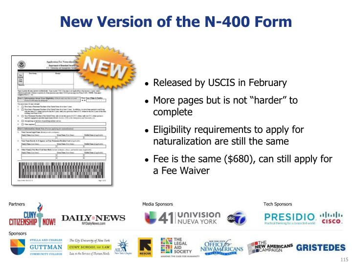 New Version of the N-400 Form