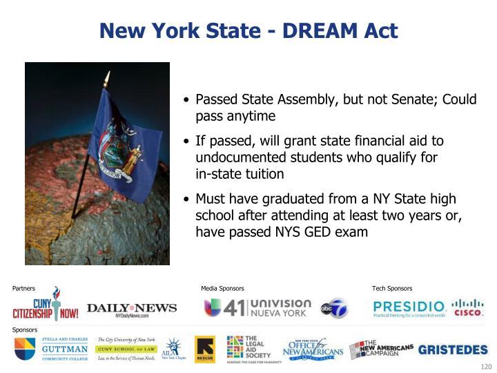 New York State - DREAM Act